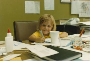Little me hard at work!