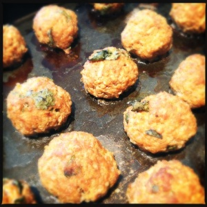 Pork Apple and Quinoa Balls
