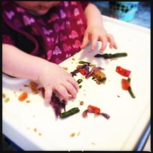 Leftover stir fry veg