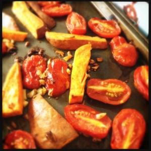 Garlicky Tomatoes