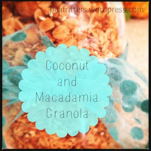 Coconut and Macadamia Granola
