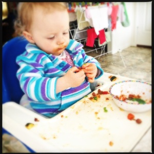 Spag bol without a bib! It can be done!