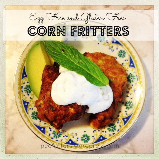 Egg Free and Gluten Free Corn Fritters