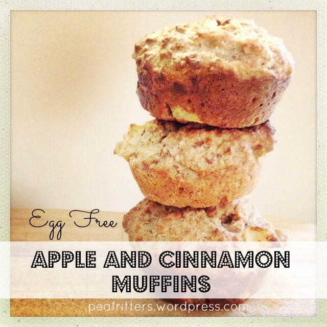 Egg Free Apple and CInnamon Muffins