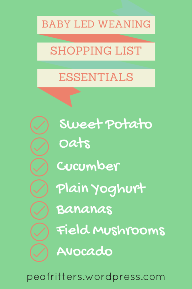 Baby Led Weaning Shopping List Essentials
