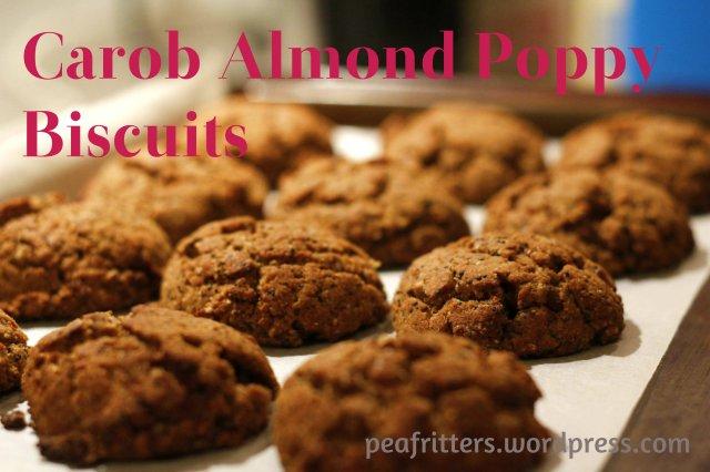 Carob Almond Poppy Biscuits