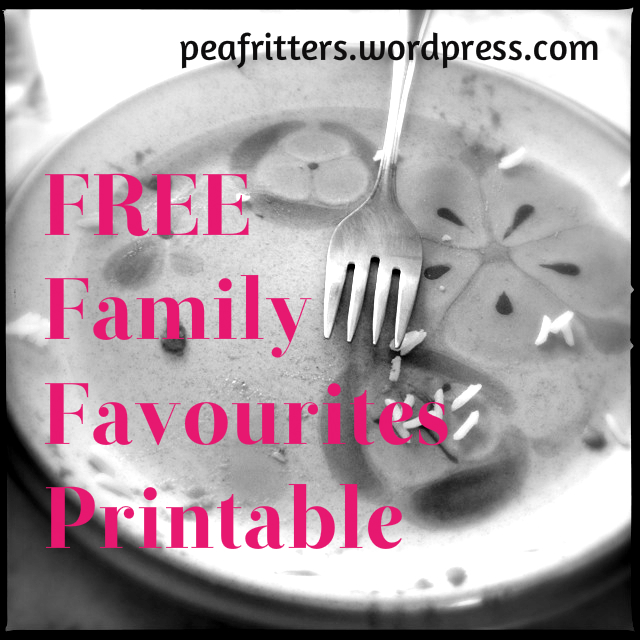 Free Family Favourites Printable